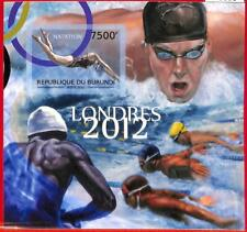A0008 - BURUNDI - ERROR, 2012  IMPERF SHEET:  SPORT Swimming Olympics