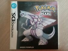 Pokemon pearl version Nintendo DS nds french instruction manual NO GAME Francais