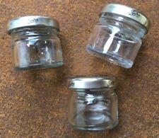 Tiptree Wilkin & Son clean empty cute mini jam jars 4 cm tall set of 3 with lids