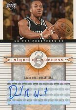 2003-04 UD Top Prospects Signs of Success WE David West Rookie  NM/MT or better