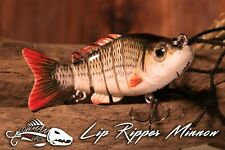 """Minnow Swim Bait 3.2""""Jointed Fishing Lure Lowman Lures Lip Ripper"""