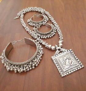 Indian Trendy Oxidized Silver Gypsy Tribal Trendy Tibetan Fashion Women Jewelry