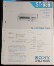 Sony ST-636 tuner service repair workshop manual (original copy)