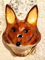 Vintage Babbacombe Philip Laureston Pottery England Fox String Holder Dispenser