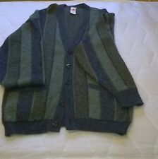 Vintage 1990s M&S Multi Coloured Knitted Long Sleeve Button Cardigan, Size M/L