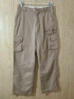 Polo Ralph Lauren Boys Chino Cargo Pants Khaki Flap Pockets 100% Cotton 18