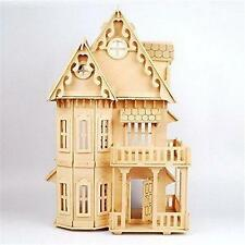 Wooden Dream Dollhouse 6 Rooms DIY Kits Miniature Doll House Great for Gift L