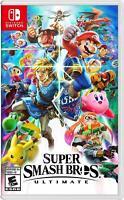 Lot of 4 Super Smash Bros. Ultimate - Nintendo Switch