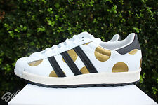 ADIDAS JEREMY SCOTT JS SUPERSTAR 80S SZ 11.5 RIPPLE METALLIC GOLD DOTS G61527