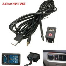 3.5mm AUX Auto USB Headphone Male Jack Flush Mount Mounting Adapter Panel Input