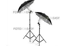 2X S45T Photography Studio Strobe Flash Light Bulb w Umbrella Lighting Stand Kit