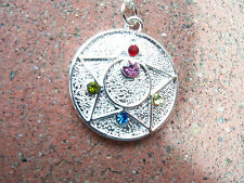 Sailor Moon R Crystal Star Necklace Pendant Metal Cosplay Compact Brooch Doll