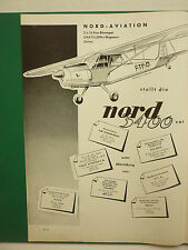 3/1959 PUB NORD AVIATION NORD 3400 ROBERT ROUX / HUNTING PERCIVAL JET PROVOST AD