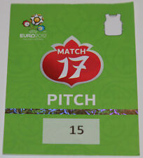 OLD TICKET PASS to Pitch * Rare * EURO 2012 * Czech Republic - Poland in Wroclaw