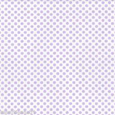Tessuto stoffa a pois bianco su fondo lilla cm 50 x 160