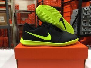 Nike Junior Phantom Venom Club IC Soccer Shoes (Black/Volt) Sz: 10c-6y NEW!