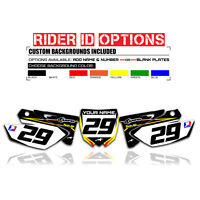 2002 - 2014  UFO  YAMAHA YZ 125 250 CUSTOM NUMBER PLATE BACKGROUNDS DECALS