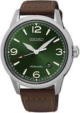 Seiko SRPB 05J1 presagio Automatico Quadrante Verde Data WR 100 M 2 Anno Garanzia RRP £ 359
