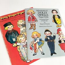 Adventures of Dolly Dingle Paper Doll Set of 2 Books Grace Drayton