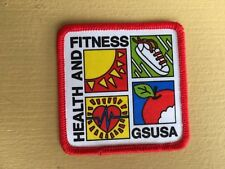 Girl Scout Patch  - Health and Fitness GSUSA- Qty  New