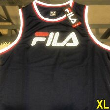 FILA SPORT MEN'S DARK NAVY XL BIG FILA LOGO TANK TOP T-SHIRT TEE NWT