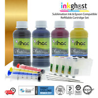 Rihac Sublimation refill ink & Refillable Cartridges Alternative for 220 220XL