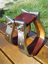 "2"" Stainless Monel Bell Ranch Roping Cutting Saddle Stirrups"