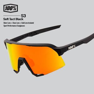 100% Percent Cycling S3 Sunglasses - Soft Tact Black Gold