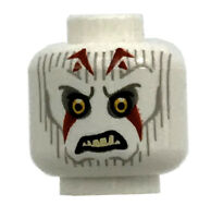 LEGO NEW WHITE ALIEN MINIFIGURES HEAD WITH RED MARKINGS MONSTER HALLOWEEN PIECE