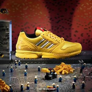 Adidas ZX 8000 Lego Mens Yellow White Shoe Trainer Sneaker All Sizes