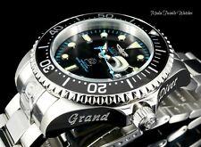 Invicta 47mm Grand Diver AUTOMATIC BLACK Dial w/Blue Accent Bracelet Watch New