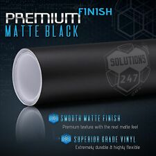 "Matte Flat Black Vinyl Wrap Film Decal Bubble Free Air Release - 12"" x 60"" In"