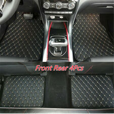 PU Leather Car Front Rear Floor Foot Mats Waterproof Dustproof Universal 4Pcs