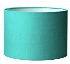 18X25cm LONG Round Drum Shape Teal Light Shade Hang Pendant Kid Room Lounge Deco