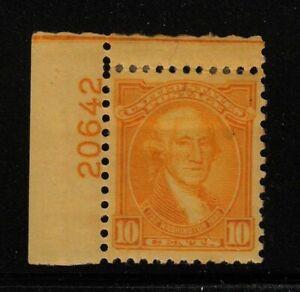1932 Washington Bicentennial Sc 715 MHRs plate number Hebert CV $35