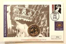 2003 ELISABETTA II Giubileo d'oro SIERRA LEONE $1 Copertina Gibilterra TIMBRO SNo27065
