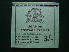 UGANDA FLOWERS RIGHT  HAND STITCHED BOOKLET 3/- of 1970 SB4 MINT COMPLETE.