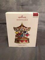 Torn Box 2019 Hallmark Keepsake Christmas Carnival Toyland Traveler Ornament