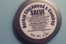 1 - 4oz Can of Herbal Chickweed & Comfrey Salve - Super Healer... Feel The Heal