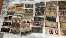 30  Antique Stereo View Mixed Military Theatre and MORE Lot C