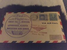 Old Air Mail Envelope 1941 First Flight Western Air Lines Route No. 52