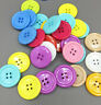 100pcs Round Resin Sewing Buttons 4 Holes Scrapbooking Craft 25mm/0.98in