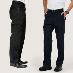 Cargo Trousers by UNEEK UC903 - Regular or Long - Black or Navy Action Workwear
