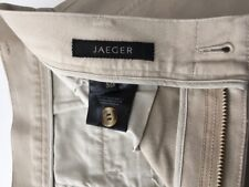 """MEN'S JAEGER STONE FLAT FRONTED CHINO JEANS TROUSERS W34"""" MINT! FAB!"""