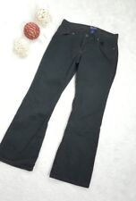 Polo Jeans Company Women's Faded Black Cotton Pants Casual Straight 4