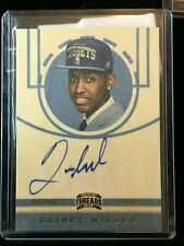 F5054 2012-13 Panini Threads AUTO RC QUINCY MILLER