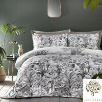 Appletree EDEN Grey 180TC 100% Cotton Duvet Cover Set