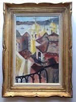 Tableau Ancien Lisbonne le Tage de Carlos BOTELHO (d'après) Huile toile signée