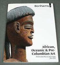 Bonhams African Oceanic Pre-Columbian Art  NY  May 2013 Prices