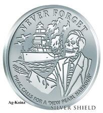 1 oz 2018 PNAC BU - Never Forget #5 Silver Shield 999 Pearl Harbour False Flag